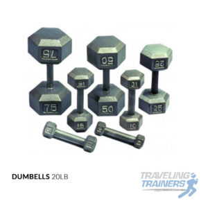 20lb Dumb Bells - Traveling Trainers
