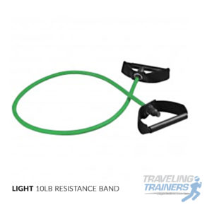 Light Resistance Band with Handles - Traveling Trainers