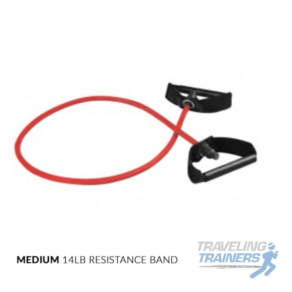 Medium Resistance Band with Handles - Traveling Trainers
