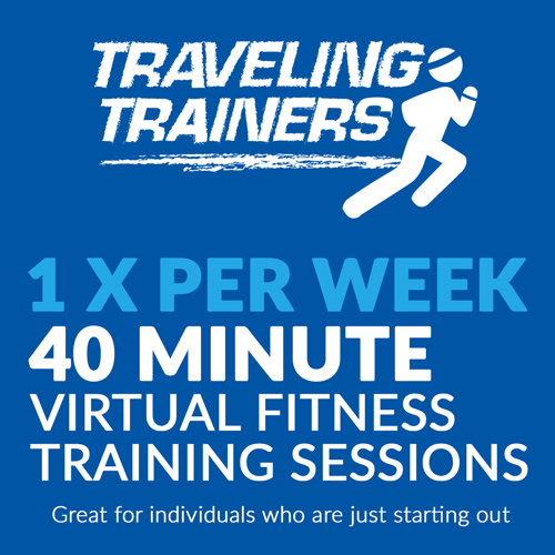 1 x Per Week, 40 Minute Virtual Fitness Training Sessions