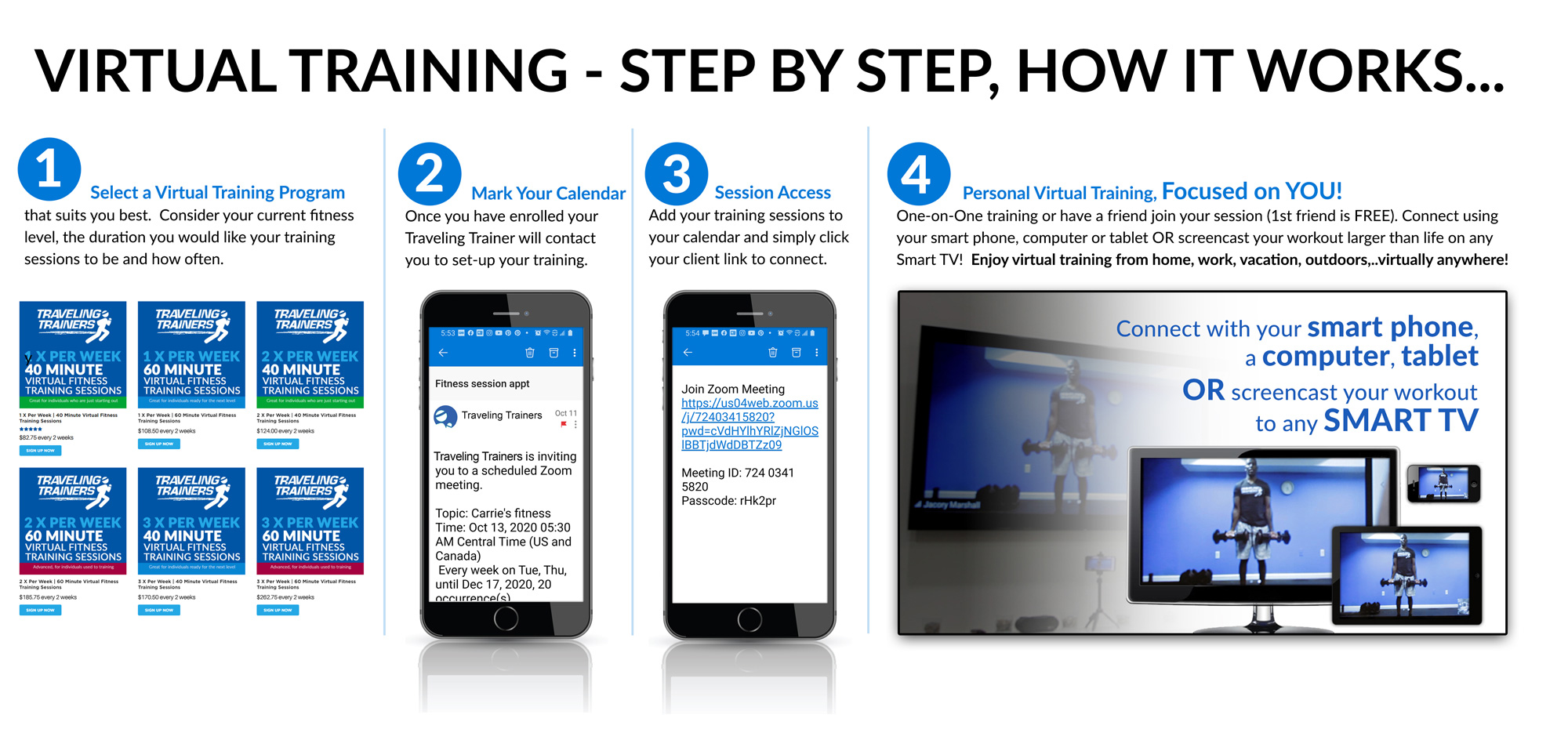 Virtual Fitness Training - Workout from Anywhere, One-on-One Training